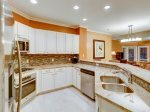 Newly Renovated Kitchen with Stainless Steel Appliances at 8134 Wendover Dunes