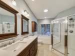 Master Bathroom with Separate Tub at 8 Cottage Court