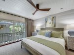 Upstairs King Bedroom at 8 East Beach Lagoon