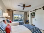 Guest Bedroom with Covered Porch and Ocean Access at 8 East Beach Lagoon