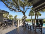 Back Deck with BBQ Grill at 8 East Beach Lagoon
