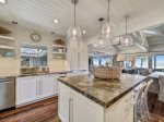 Kitchen with Ocean Views at 8 East Beach Lagoon