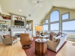 Upstairs Living Room with Oceanfront Views at 8 Junket