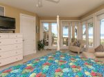 Upstairs Master Bedroom with Private Deck Access and Ocean Views at 8 Long Boat