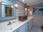Renovated Master Bathroom with Double Vanity at 9 Lands End Way