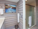Renovated Master Bathroom with Step-in Shower at 9 Lands End Way