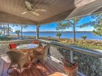 Beautiful Screened Porch with Views of Calibogue Sound at 9 Lands End Way