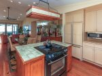 Kitchen and Dining Room Both Offer Ocean Views at 9 Lands End Way
