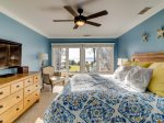 Master Bedroom with Ocean Views on the 4th Level at 1452 Sound Villa