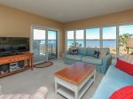 Living Room with Ocean Views at 1888 Beachside Tennis