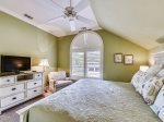 Master Bedroom on 2nd Floor Features King Bed at 1 Strath Court