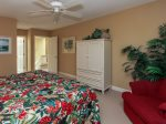 The King Guest bedroom has a flat panel TV in 7640 Huntington in Palmetto Dunes