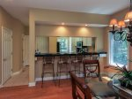 There is also a breakfast bar with seating for 4 between the kitchen and living area in 7640 Huntington