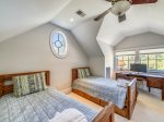 Upstairs King Bedroom with Great Lagoon Views at 6 Rum Row