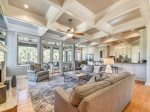 Living Room with Access to Screened Porch and Offers Lagoon Views at 6 Rum Row