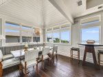 Dining Area with Ocean Views on 3rd Level at 18 Brigantine