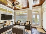 Sitting Area with Wonderful Ocean Views in 2nd Level Master Bedroom at 18 Brigantine