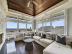 Sitting Area Off Living Room with Fantastic Ocean Views on the 3rd Level