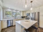 Fully-equipped Kitchen with Breakfast Bar at 17 Lands End