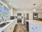 Kitchen has Front Deck Access at 17 Lands End