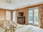 Master Bedroom with TV and Large Private Bathroom at 4 Pyxie Lane