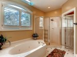 Private Master Bathroom with large soaking tub and separate shower3 Pyxie