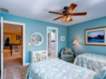 Guest bedroom with 2 Twin beds is located on the second level 3 Pyxie