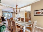 Formal Dining table with seating for 8 in 3 PyxieSea Pines Vacation Rental