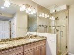 Master Bathroom with Shower at 473 Captains Walk