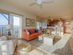 Open Floor Plan with Plenty of Windows for Ocean Views at 1872 Beachside Tennis