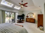 Master Bedroom with Private Deck at 3 Battery Road