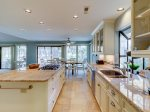 Kitchen with Pool Views at 3 Battery Road