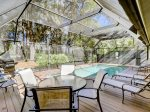 Screened in pool gets plenty of sunlight at 3 Battery Road