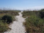 Paved Path Leads to Sandy Beach Path from 5 High Rigger