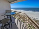 Private Balcony off Master Bedroom with Direct Ocean Views at 1506 Villamare