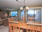 Dining Area with Seating for Six Offers Ocean Views at 1506 Villamare