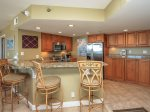 Kitchen with Breakfast Bar at 1506 Villamare