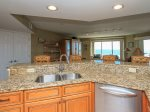 Kitchen Offers Ocean Views at 1506 Villamare