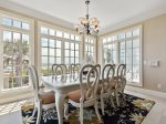 Dining Room with Seating for Eight Offers Sweeping Ocean Views at 39 Dune Lane