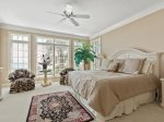 Main Level Master Bedroom with King Bed and Ocean Views at 39 Dune Lane