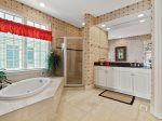 Master Bath with Double Vanity and Separate Tub and Shower at 39 Dune Lane