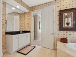 Private Master Bath at 39 Dune Lane