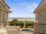 Upstairs Balcony off Living Room with Gorgeous Ocean Views at 39 Dune Lane
