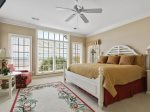 3rd Master Bedroom with King Bed and Ocean Views at 39 Dune Lane
