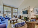 Spacious and open main living area at 1469 Sound Villa in Sea Pines