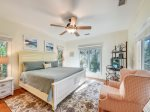 Master Bedroom with TV at 4 East Garrison Place in Sea Pines
