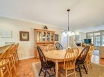 Dining Table with Seating for Eight at 4 East Garrison Place in Sea Pines