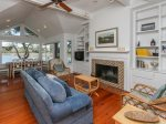 Spacious Main Living Area with Water Views of Braddock Cove on the Second Level