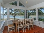 Dining Area with Water Views of Braddock Cove on the Second Level