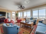 Living Area with Oceanfront Views at 3201 Sea Crest